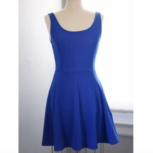 H&M Scoop Neck Skater Dress Blue NWT